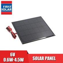 電源銀行バッテリ電話の充電器 6V dc ソーラーパネルミニソーラーシステム DIY 0.6 ワット 1 ワット 1.1 ワット 2 ワット 3 ワット 3.5 ワット 4.5 ワットソーラー
