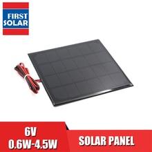Power Bank ładowarka do telefonu komórkowego 6V dc Panel słoneczny Mini układ słoneczny DIY 0.6W 1W 1.1W 2W 3W 3.5W 4.5W Solar