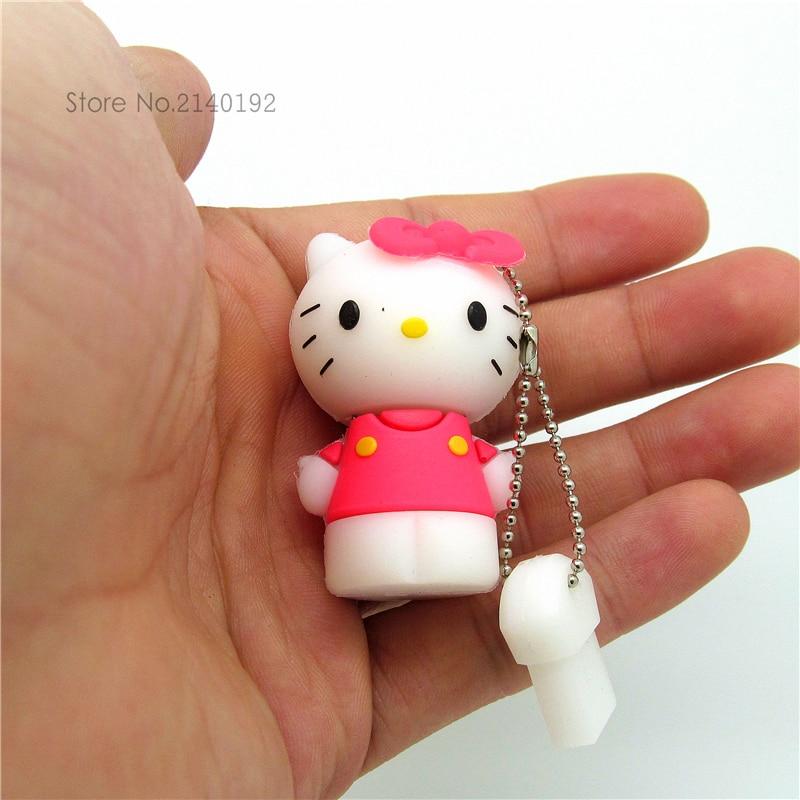 Cartoon Hello Kitty Usb Flash Drive 32GB Real Capacity U Stick Flash Memory Disk Pendrive 4GB 8GB 16GB Pen Drive Storage USB2.0