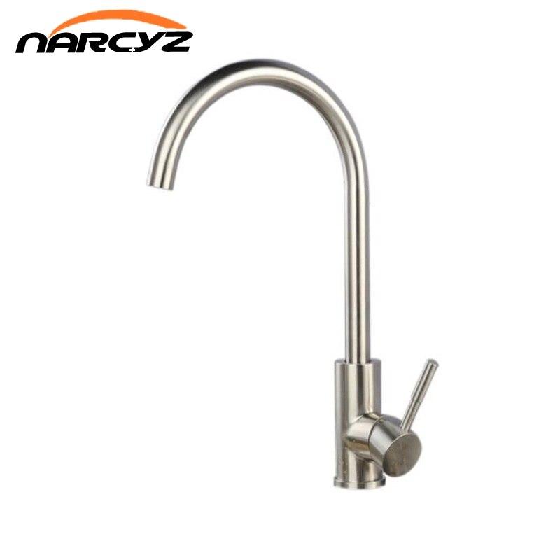 Free Shipping Economic 304 stainless steel faucet kitchen faucet hot and cold faucet stainless steel pots kitchen faucet XT-54 цена и фото