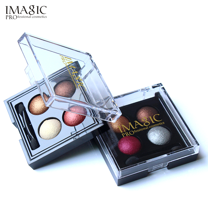 все цены на IMAGIC Professional Eyes Makeup Pigment Eyeshadow 4 Colors Waterproof Eye Shadow Palette With brushes Beauty