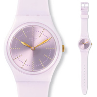 Swatch Watch Sunburst dial with sweet quartz watch for men and women French marshmallow GP148