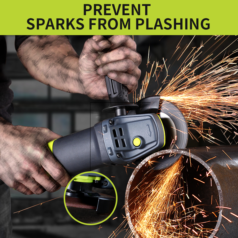 Handheld Grinding Polisher 1250W Household Floor Polishing Grinding Cutting Wood Angle Grinder Hand Grinding Wheel Tools
