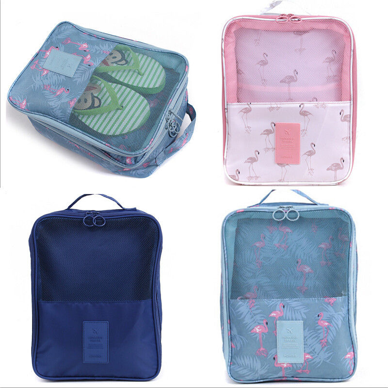 Storage Bags Shoe Organizer Convenient Polyester Waterproof Tote Large Travel Home Sorting Pouch Zipper Storage Bag Portable Foldable