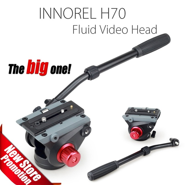 H70 Fluid Video Head for Tripod Monopod Manfrotto 501PL and Bird Watching High load capacity Smooth damping Stable Solid