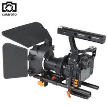 Kamera DSLR Rig Menangani Video Stabilizer Kamera Kandang & Follow Focus & matte box kit untuk sony a7s a7 a7r a7rii a7sii panasonic gh4(China)