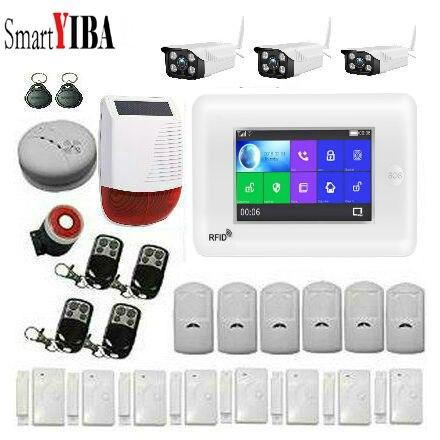 SmartYIBA 3G WiFi Drahtlose Smart Alarm System Sicherheit Home mit Video IP Kamera Anti Diebstahl System mit PIR sensor APP Control