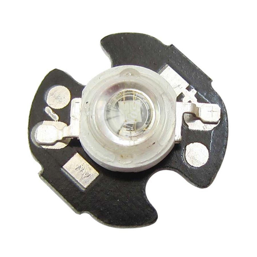 100pcs/lot 3W 45mil Chip Bule 460~465nm LED Bead Plant Grow Light Part Emitter With 16mm Heatsink