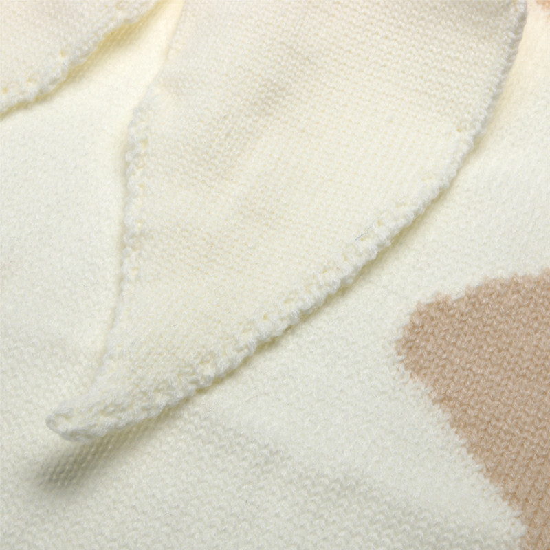 120X75 cm Mantas de Bebé Orejas de Conejo Crochet Recién Nacido ...