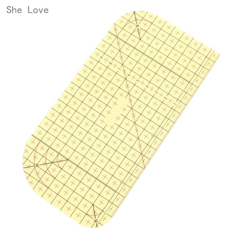 Sie Liebe Heiße Bügeln Herrscher Patchwork Tailor Handwerk DIY Sewing Supplies Messung Werkzeug