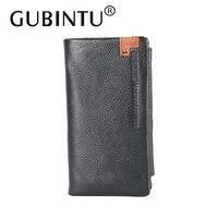 GUBINTU Genuine Leather Wallet For Men Hight Quality Soft Brand Zipper Men Wallet Original Leather Wallet