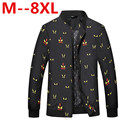 8XL 7X 6XL   New Arrival Slim Fashion Korean Style Mandarin Collar Zipper Young Thin Men Jacket  version free delivery