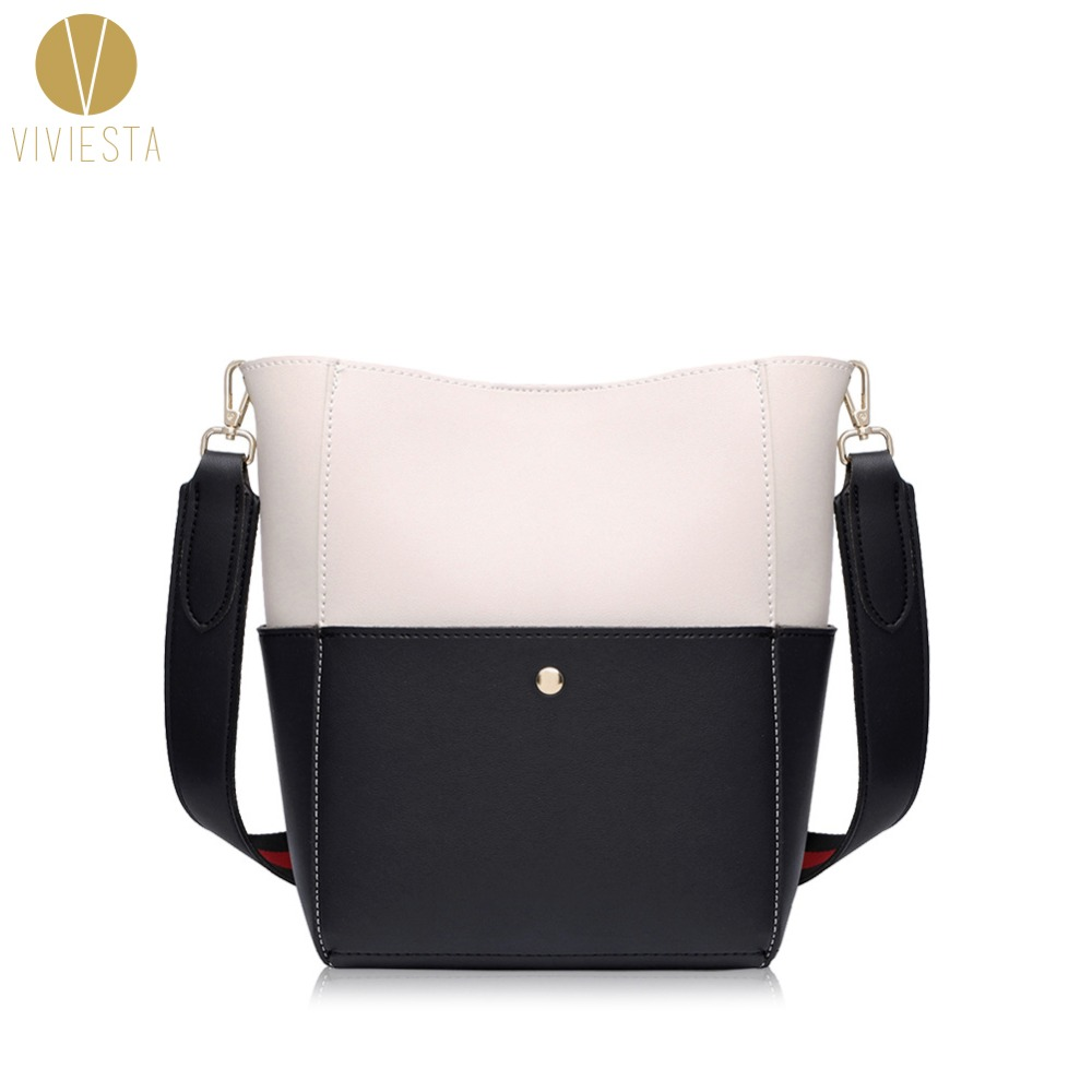 PU LEATHER CANVAS STRAP SHOULDER TOTE BAG - Women's Two Tone Faux Wool Handle Large Capacity Fashion Casual Shopping Bag Handbag