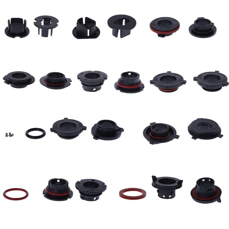 2Pcs Car LED Headlight Bulb Adapter Holder Base Sockets Retainer For H1 H3 H4 H7 H11 H13 9004 9005 9006 9007