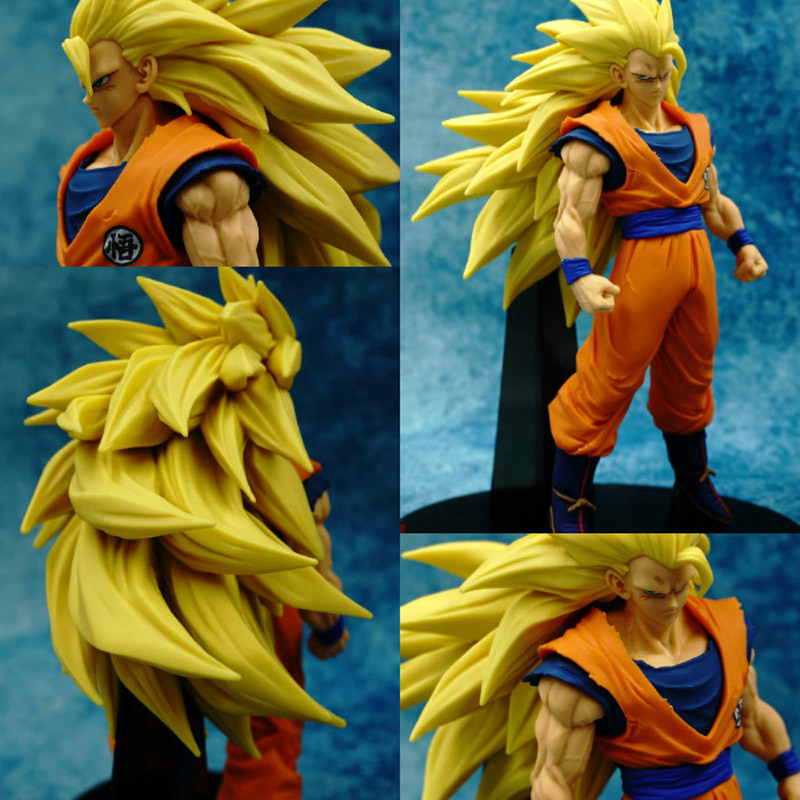 Dragon Ball Z Son Gokou 1/8 Scale Painted Super Saiyan Son Gokou Doll ACGN PVC Action Figure Collectible Model Toys 20cm yin qi shi man winter outdoor shoes hiking camping trip high top hiking boots cow leather durable female plush warm outdoor boot