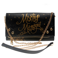 HARRY POTTER HOGWARTS Mischief Managed Foldover With Chain Strap Women Wallet DFT 8004