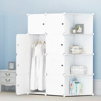 031317 assemble ABS plastic folding wardrobe Multi-purpose