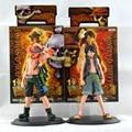Anime figura de una pieza del mono D Luffy + Portagas D Ace Brinquedos PVC figuras de acción Juguetes de colección modelo Juguetes para niños 16 cm
