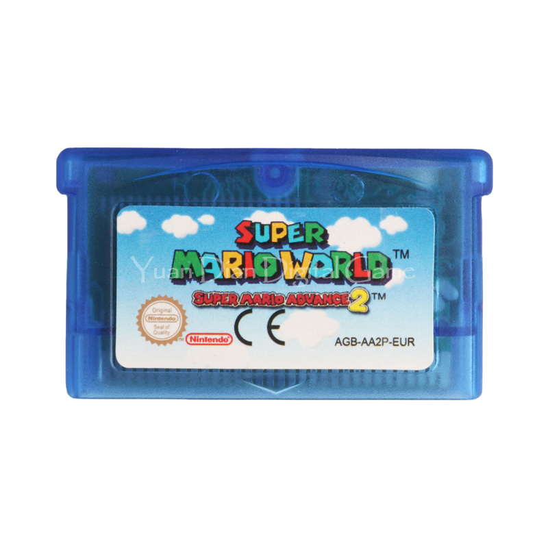 Nintendo GBA Video Game Cartridge Console Card Super Mario Advance 2 Super Mario World ENG/FRA/DEU/ESP Language Version [50set lot] for nintendo gameboy series game cartridge housing shell replacing cover case for gb gbc gba sp