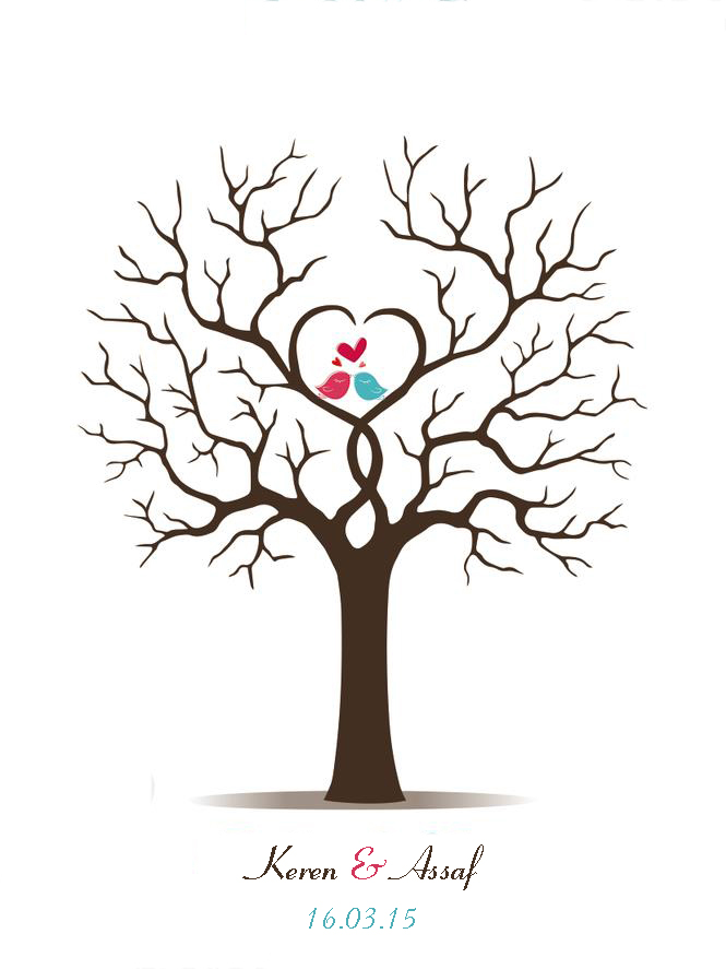Aliexpress.com : Buy Canvas Wedding Fingerprint Tree Guest ...