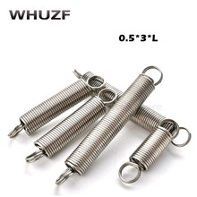Spring 20pcs/set Wire Dia.0.5mm Outside Dia. 3mm Length 15-50mm 304 stainless steel tension spring with hooks springs