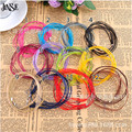 JINSE 10pcs/lot 17-19 Inch Adjustable Assorted Colors Organza Ribbon Necklace Cord with Lobster Clasp For DIY 12 Colors JCD007