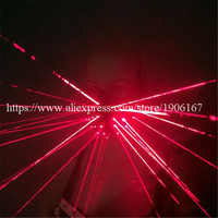 2 Pcs Red Laser Man Mask With 24 Pcs Red Lasers Luminous Halloween Laserman Show Headwear For Laser Stage Show Party Supplies