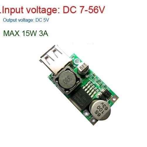 DYKB LM2596HV DC-DC Buck Converter Power module DC 9 V/12 V/24 V/36 V/ 48 V naar 5 V 3A USB Charger POWER Elektrische auto batterij
