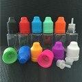 50 unids Cuadrado Plástico e-jugo Botellas Pet e-líquido 10 ml Frascos Con Cuentagotas de Pet de Aceite Vacío Botella de Líquido E Con Tapa A Prueba de niños