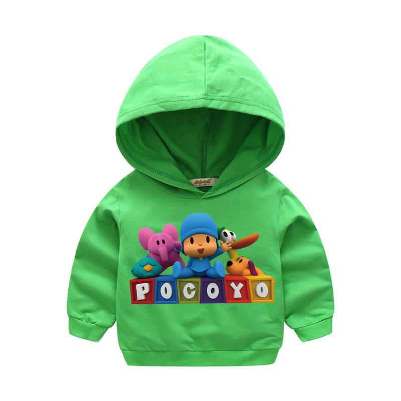 Boy Girls Autumn Clothes Baby 3D Cartoon Pocoyo Tops Hooded Clothing Children Hoodies Clothes For Kids Hoody Sweatshirts LM027 1