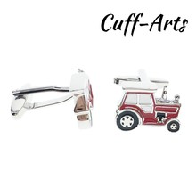 Cufflinks for Mens Red Tractor Gifts Men Gemelos Les Boutons De Manchette by Cuffarts C10383
