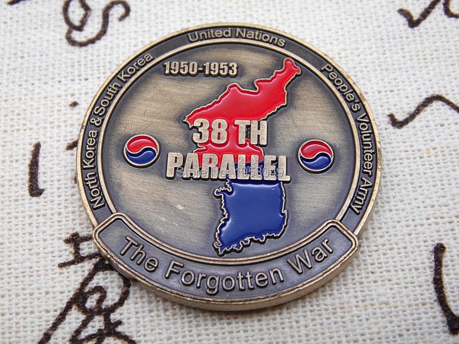 KOREAN WAR THE FORGOTTEN WAR 38TH PARALLEL CHALLENGE COIN (5).jpg
