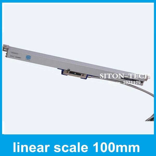 Free shipping mill lathe linear encoder Rational WTA1 1um 100mm digital linear scale for Spark machine CNC  цены