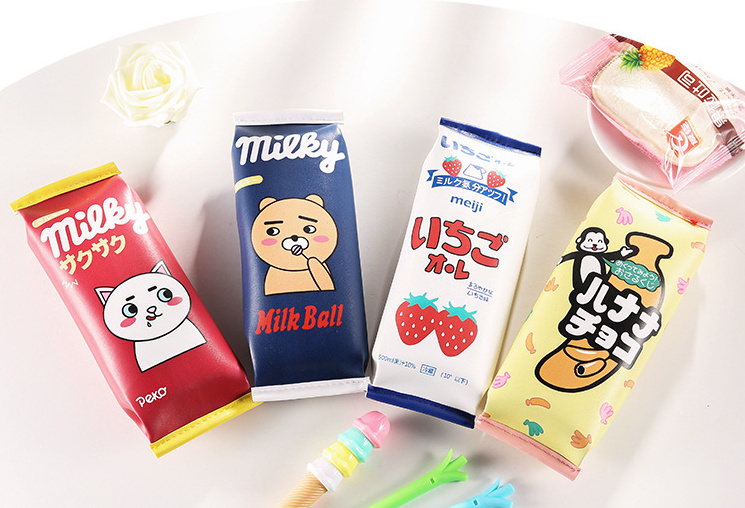 23*8cm Pu Coin Bag Pouch ; Gift Pu Coin Purse Wallet Organizer Bag 4models Novelty New Catoon Strawberry Etc