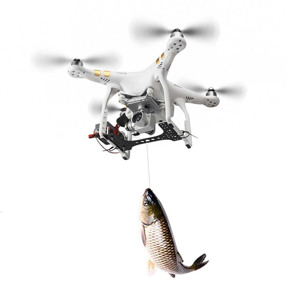 Shinkichon Pelter Fish Bait Advertising Ring Thrower Servo Controlled Dropper for DJI Phantom 2 3A 3P