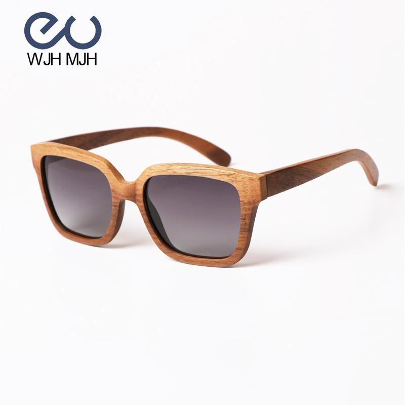 2017 été Style noir noyer bois nouvelles lunettes de soleil femmes et hommes Vintage lunettes rétro conduite lunettes Oculos de sol feminino