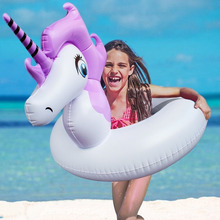 Inflatable Unicorn Swinmming Ring For Children Free With Patch Summer Swim Water Toys Pool Floats