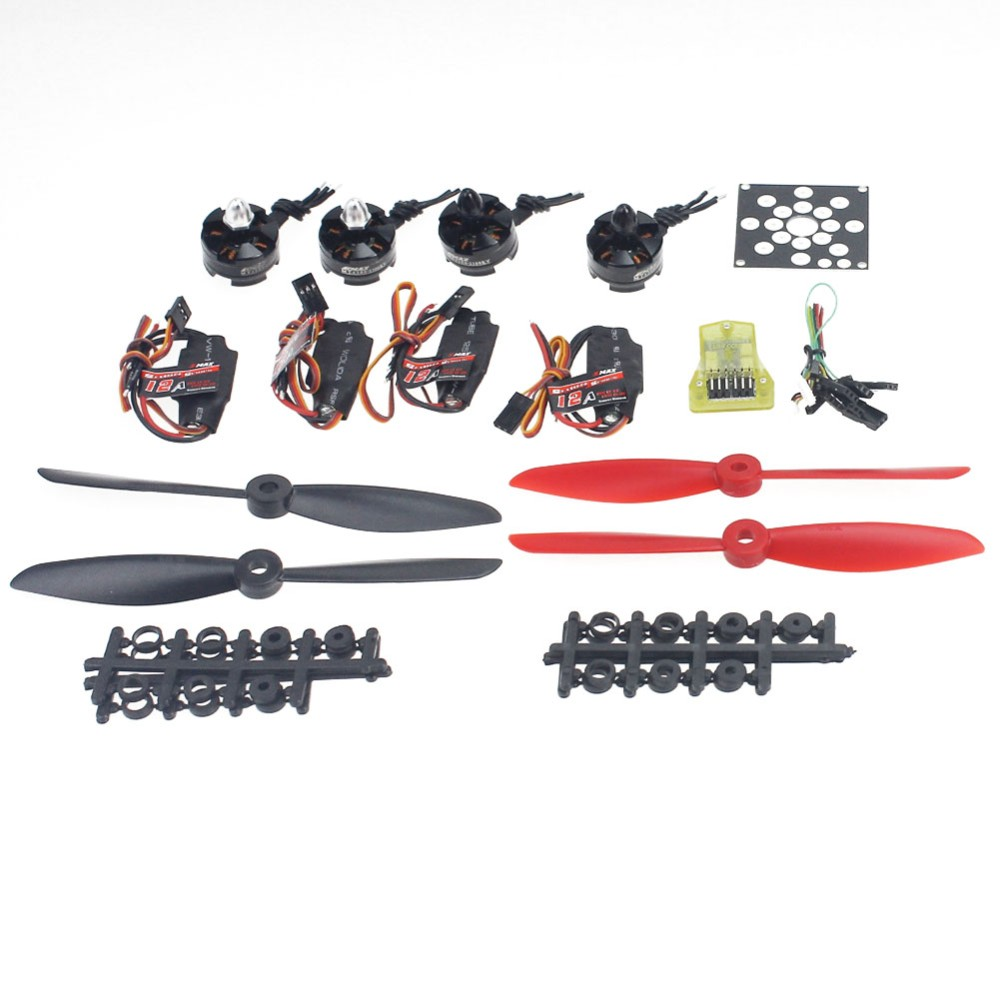 JMT 4-Axis Helicopter Kit KV2300 Brushless Motor+12A ESC+Straight Pin Flight Control+FC6x4.5 Propeller electronic components set kv2300 brushless motor 12a esc straight pin flight control open source for 250 helicopter f12065 b