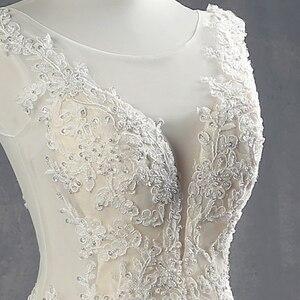 Image 4 - 100% Real Picture Appliques Tulle Mermaid Wedding Dresses Luxury Vestido Noiva Sereia Sexy Robe de Mariee Princesse de Luxe