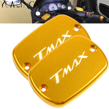 For Yamaha T-MAX Tmax 500 530 TMAX-500 TMAX530 TMAX-530 2008-2018 Motorcycle Brake Fluid Fuel Cylinder Reservoir Tank Cap Cover