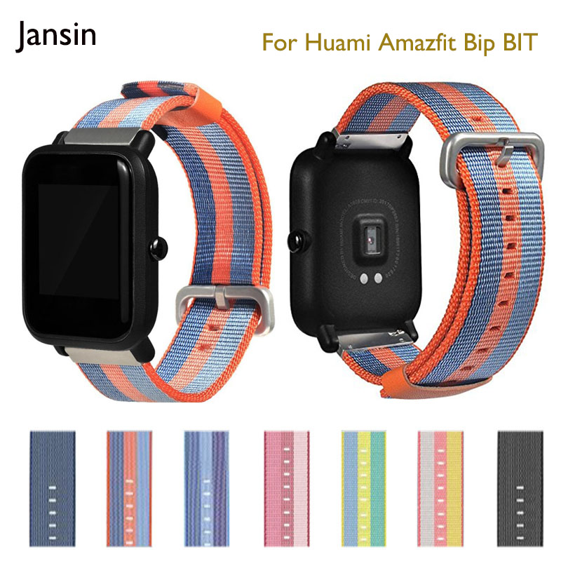 20mm Universal nylon watch Strap For Xiaom Huami Amazfit Bip BIT/Samsung Gear Sport/Moto360 Gen 2 42mm/Pebble Time Round Band