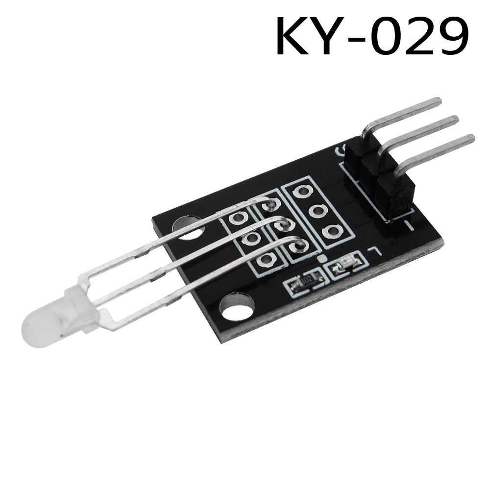 KY-029 3mm Duas Cores Vermelho e Verde LEVOU Kit Diy Módulo de Cátodo Comum