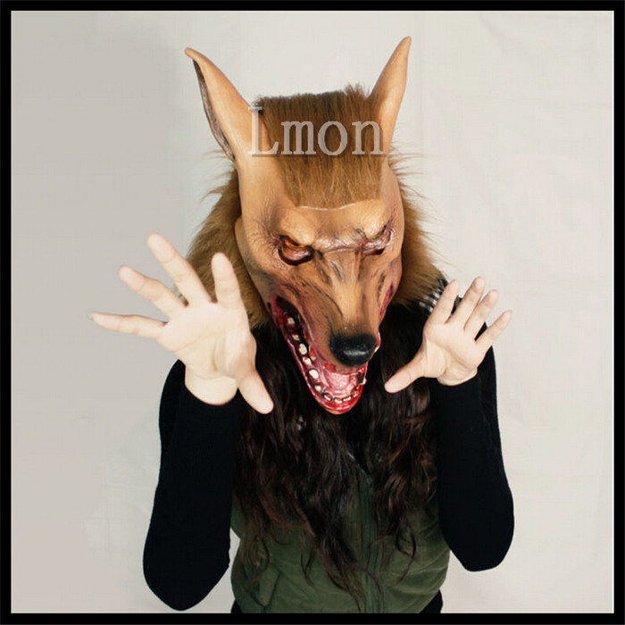 Free Shipping Latex Scary Halloween Hats Christmas caps Wolf Head Masks City Party Masks Halloween Costumes Carnival Masks
