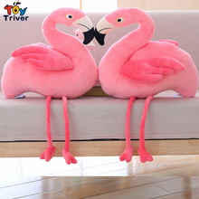 60cm Simulation Flamingos Plush Flamingo Doll Wildlife Bird Stuffed Toy Home Shop Decor Baby Kids Birthday Gift Drop Shipping