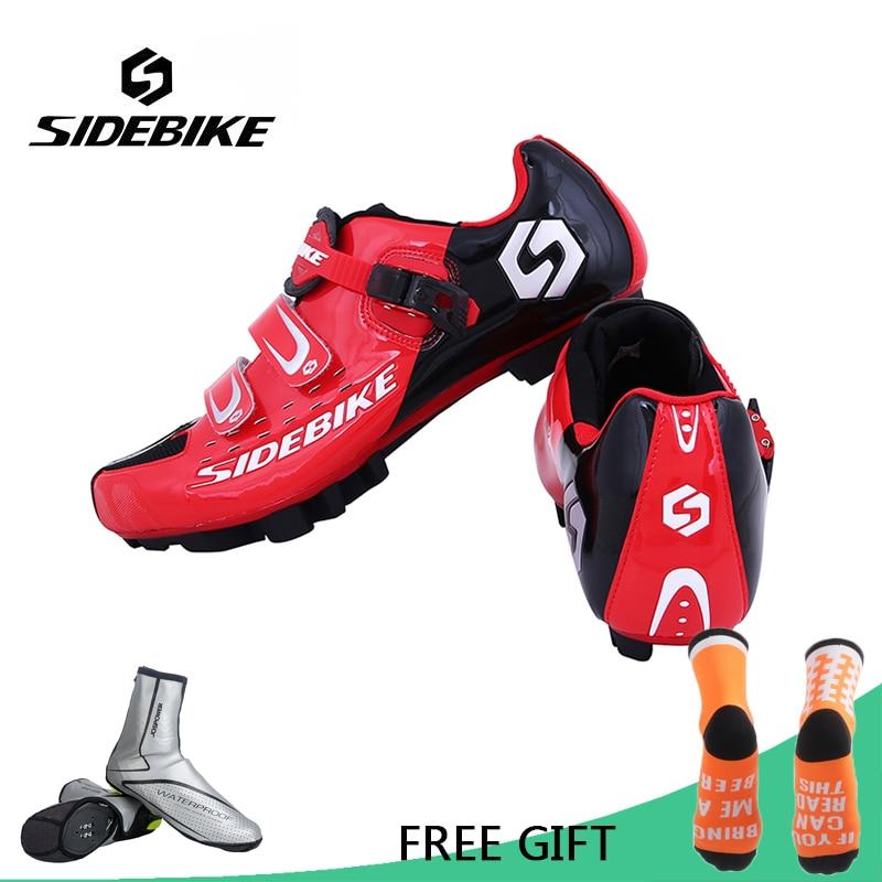 Sidebike Professional Athletic Bicycle Sports Shoes Cycling MTB Bike Shoes Mountain Shoes Men MTB Bike Self-Locking Shoes цена