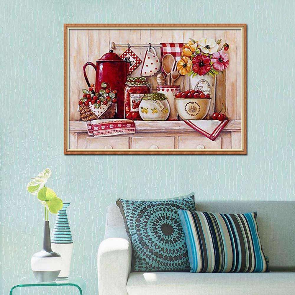 5D алмазная картина набор украшение кухонной стены DIY полная дрель Алмазная