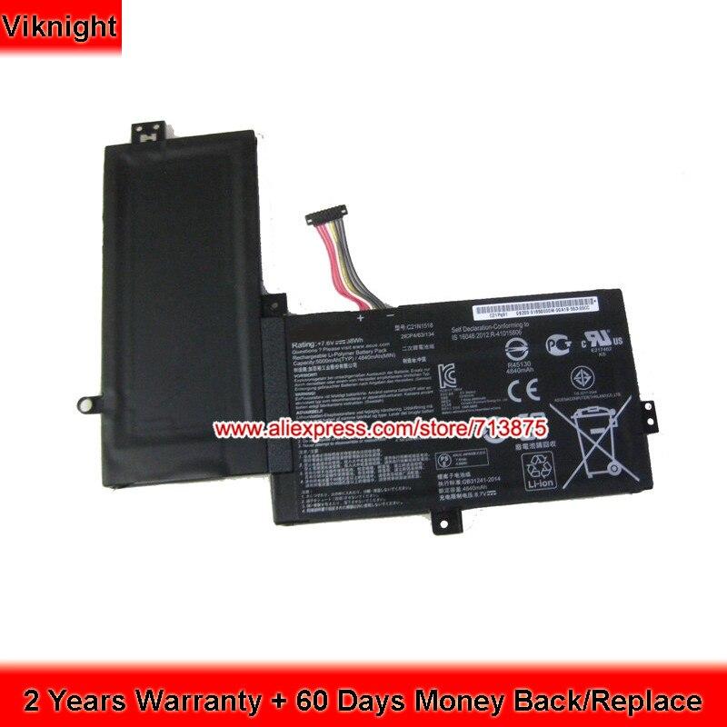 7.6V 38Wh C21N1518 Battery For Asus TP501 TP501UA VivoBook Flip TP501UQ цена