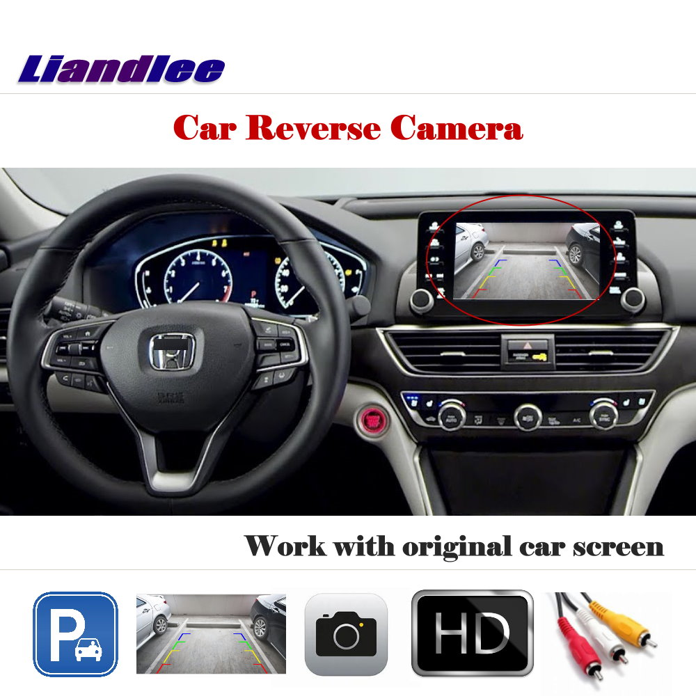 Auto Reverse Parking Camera For Honda Accord LX Inspire 2018  2019 2020 Rear Rearview Camera Back Work With Car Factory Screen