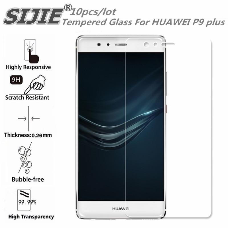 10 pièces verre trempé pour HUAWEI P9 plus P9Plus VIE-AL10 couverture d'écran de protection mince 5.5 pouces smartphone étui trempé 9 H sur