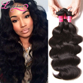 7A Unprocessed Brazilian Virgin Hair Body Wave 4 Bundles Deal Brazilian Body Wave Wet and Wavy Virgin Brazilian Human Hair Weave